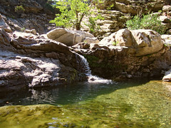 Riverpool in low water season - AMID 11 (angeloska) Tags: nature waterfall hiking ikaria aegean september greece   chalares mountaingorge raches angelspool   dipotama wildswimming diplopotama   upperchalares