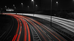 Red Lining..... (PRA Images) Tags: night manchester motorway desaturation m60 simister lightroom6