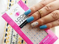 Lápis Lazuli + película Look das Unhas (Cris_Yumi) Tags: beauty top polish nails unhas maos cuidados esmaltes topbeauty