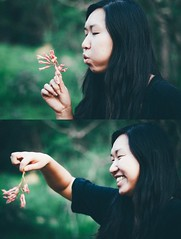 (Love in the Time of Almonds) Tags: flowers green make forest portraits blow wish