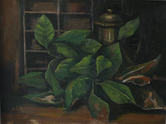 Hojas con jarra (ca.chezmay) Tags: stilllife art pintura casm
