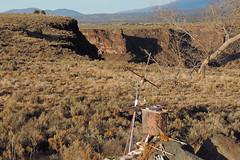 Taos - Rio Grande Shrine (Drriss & Marrionn) Tags: travel bridge usa newmexico river shrine outdoor roadtrip riogrande riograndegorge spiritualsite