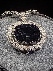 The famous 45.52 carat Hope Diamond also known as the Tavernier Blue enhaced with Topaz Star Effects (mharrsch) Tags: blue india washingtondc smithsonian diamond museumofnaturalhistory gem hopediamond gemstone mharrsch tarvenierblue