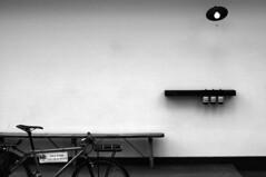 Asop Kyoto  (jun.skywalker (enishi hand made cyclecap)) Tags: bw bike bicycle japan wall kyoto mtb series  vigore serieswall asopkyoto
