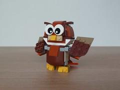 LEGO 31044 LEGO CREATOR 3 in 1 2016 Park Animals Owl (2/3) (Totobricks) Tags: animal animals 1 lego howto owl instructions creator build 2016 parkanimals legocreator legocreator3in1 totobricks lego31044