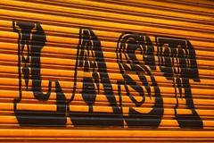 Last (justingreen19) Tags: nyc newyorkcity urban streetart ny newyork art lines yellow last typography rust manhattan streetphotography rusty storefront shutters bowery font type lettering typeface oxid metalshutters urbanlines metallines justingreen19 comelast cominglast finishedlast finishinglast