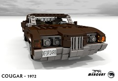 Mercury 1972 Cougar Coupe (lego911) Tags: auto usa classic ford hardtop car america model lego personal mercury yacht render company land motor 1970s build 1972 cougar coupe challenge v8 cad lugnuts povray moc ldd rwd miniland 99th lego911