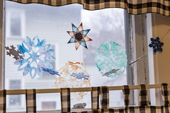 snowflakes (jojoannabanana) Tags: decorations window snowflakes handmade garland 3652016