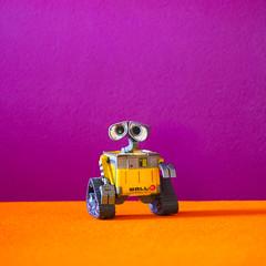 Wall-E (Yahweh's Creation) Tags: life orange toy robot still purple plum disney figure figurine