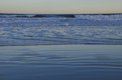 (amy20079) Tags: ocean sunset seascape nature water evening waves patterns calming newengland textures simple gentle nikond5100
