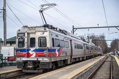 Vs at Fox Chase (Nick Gagliardi) Tags: railroad electric train trains v fox chase septa mu iv spax silverliner
