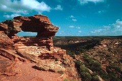 Natural Arch, Kalbarri (GothPhil) Tags: 35mm landscape scenery december arch kodak australia scanned kodachrome westernaustralia 1990 asa200 rockformation kalbarri geological naturalarch kalbarrinationalpark natureswinbdow