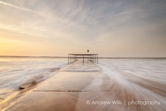 Rush (Andrew H-W) Tags: uk winter sea color colour water sunrise season waves time object tripod hard structures places lee dorset nd gran filters 06 groyne graduated boscombe 2016 neutraldensity objectsstructures andrewhaywardwills