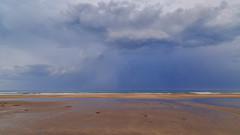 La mer (Amanclos) Tags: blue sea wallpaper sky cloud mer seascape beach water clouds canon skyscape sand ciel nuage nuages plage waterscape portlanouvelle canonef2410514lisusm canoneos5dmarkiii plagedeportlanouvelle