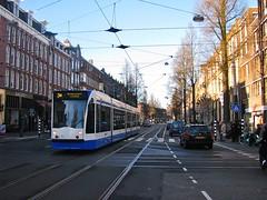 Kruispunt 2 - west - FOTO 5 (streamer020nl) Tags: 3 holland netherlands amsterdam crossing nederland tram junction intersection strassenbahn kinkerstraat niederlande bilderdijkstraat gvb kruispunt muiderpoort 2016 kruising 2113 lijn3 280116