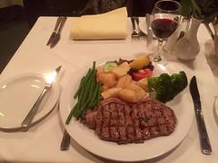 Sirloin Steak (william_hansch) Tags: england london dinner potatoes beans wine tapas steak redwine sirloin iphone iphoneonly bar61