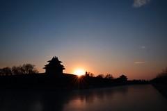 Sunset in Beijing, China, Nuno Neves (Nnerli) Tags: china blue sunset sky soleil nikon cit beijing bleu ciel chine interdite pkin
