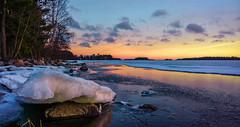 Wintry evening (Antti Tassberg) Tags: winter sunset sea sun ice nature espoo finland landscape sundown microsoft talvi xl meri luonto 950 jää auringonlasku aurinko uusimaa lumia pureview iphoneography lumia950 lumia950xl