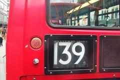 London route 139 close up .  03/02/16. (Ledlon89) Tags: bus london buses transport londonbus tfl londonbuses centrallondon