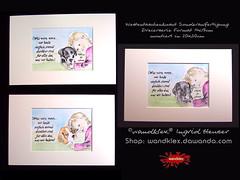 Dankbarkeit_Dreierserie (wandklex Ingrid Heuser freischaffende Künstlerin) Tags: hund etsy etsyshop dawanda auftragsmalerei wandklex wandkleks wandklecks etsyresolution2016 etsyresolutionde