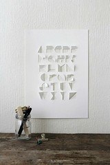 Handcut Paper Alphabet by Gina Hollingsworth (all things paper) Tags: cutpaper alphabet papercutting papertypography papercutalphabet