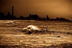 surfing in Tel-Aviv beach (Lior. L) Tags: sky beach skyline canon telaviv surf shadows silhouettes wave surfing surfers canondslr canon70200f4l canon600d canont3i canonkiss5 surfingintelavivbeach