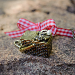 _DSC6183-square (lilyandquinn) Tags: picnic gingham bow pearl whimsical picnicbasket movingparts
