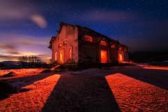 Devil in da house. (darklogan1) Tags: madrid longexposure nightphotography red house snow clouds stars logan lighpainting darklogan1
