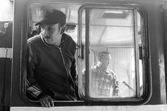 Train driver (educastellano) Tags: travel india man window station train toy driver darjeeling kurseong