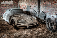 Like a needle in a haystack (LaR0b) Tags: old urban classic abandoned car barn lost decay exploring citroen citroën explore vehicle oldtimer hay exploration hdr highdynamicrange ue urbex explored lar0b