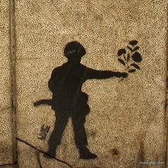 Peace Soldier II (Landahlauts) Tags: soldier graffiti andaluca stencil peace grafiti paz andalucia urbanart granada andalusia andalusien soldado andalousie andalusie andaluz arteurbano andaluzia estarcido    andaluzja  andaluzio                   canonpowershotg11  andalouzia andalusiya     plazadelapescaderia