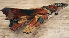 Mikoyan-Gurevich MiG-23M Flogger-B - 3 (Kenneth-V) Tags: cold scale plane airplane model war fighter lego aircraft aviation military air indoor planes finished flogger airforce russian mig 136 gurevich mikoyan mig23 moc floggerb mig23m