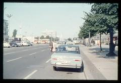 (Kaopai) Tags: auto west color bus berlin car vintage dia 1966 architektur farbe farbig omnibus westberlin historisch westen pkw farbfoto fordtaunus farbdia bismarckstrase