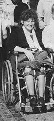 Polio lady in KAFOs (jackcast2015) Tags: disabled polio legbraces disabledwoman handicappedwoman