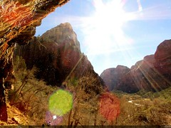 Weeping Rock (Elleen Milk) Tags: arizona sky utah paisagem cu springbreak zionnationalpark monumentvalley antelopecanyon lowerantelopecanyon