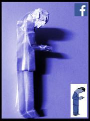 ORIGAMI - FACEBOOK LOGO MAN :P (Neelesh K) Tags: man logo media origami social problem interaction facebook explained