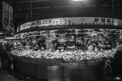 Boqueria13 (Il__Pelle) Tags: barcelona bw espaa blackwhite spain nikon mercado pescado boqueria barcellona spagna pesce mercat