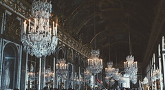 Room of Crystal - Hall of Mirrors, Chteau de Versailles (Antony Zacharias) Tags: light paris france castle contrast hall candles moody crystal corridor royal mirrors indoor palace hallway chandelier versailles hallofmirrors lightandshadow palaceofversailles decadent chateaudeversailles