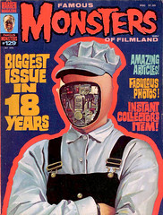 Famous Monsters #129 (1976) by Ken Kelly (Tom Simpson) Tags: illustration vintage robot scifi sciencefiction 1970s android 1976 famousmonsters futureworld kenkelly