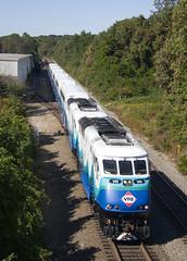 VRE Sounder doubleheader at Burke (Michael Karlik) Tags: railroad train transit sound commuter passenger burke sounder vre f59phi virginiarailwayexpress