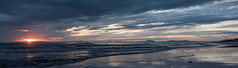 Barmouth sunset panorama (Mike Ashton) Tags: sunset sea beach wales reflections evening coast seaside sand dusk barmouth sps