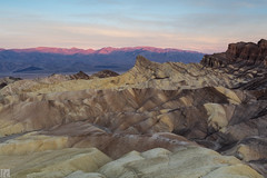 Zabriskie Point at Dawn (lycheng99) Tags: morning red sky mountains color nature sunrise landscape dawn nationalpark rocks pattern valley orangesky deathvalley zabriskiepoint rockformation deathvalleynationalpark redmountains dawncolors 2016deathvalley