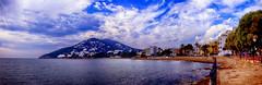 Playa de Es Riu (juantiagues) Tags: ibiza plata nubes panormica santaeulalia juanmejuto juantiagues esriu