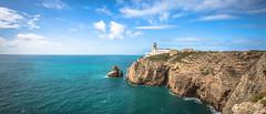 Cabo de Sao Vincente (DC P) Tags: world sea lighthouse portugal beautiful rock clouds de landscape coast cabo fort ngc rocky end algarve sao soe vincente bej