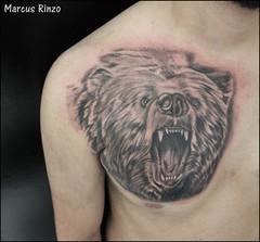 (RinzoTattoo) Tags: tattoo urso tatuagem tatuagens tatuagio rinzotattoo rinzotattoostudio tattooemsbc tatuagememsbc tatuagemdeurso ursotattoo