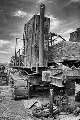 Tracked Vehicle (Photos By Clark) Tags: california broken mono unitedstates sandiego canon20d cities places location where vista northamerica nik lightroom locale convert canon1740 170400mm silverefx sandiegogeneral greatersandiegoarea vistagasandsteammuseum