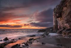 Tower & Twilight (mikeSF_) Tags: ocean california sunset seascape tower night landscape tour pacific pentax cloudy outdoor pirates norman newport pirate orangecounty lagunabeach victoriabeach mikeoria k3ii