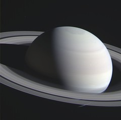 """""""True"""" Color Saturn (sjrankin) Tags: clouds edited nasa bands rings colorized saturn rgb cassini redgrnbl1 27march2016"""