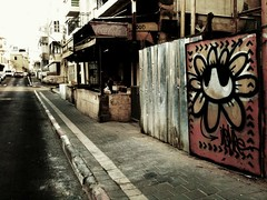 """Urban Botany"" - INSPIRE (www.InspireCollective.com) Tags: road street flowers red urban white streetart black flower art public metal wall work silver graffiti design site construction stencil icons paint artist symbol expression character tel aviv letters paintings arts icon east chrome barrier spraypaint freehand walls roads blooms middle aerosol inspire eastern surfaces artworks sites reuse symbology itw inspireyourself freedomcomesfromselfdeterminedactivity"