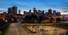 Eastside Nights (Clayton Perry Photoworks) Tags: panorama canada skyline night vancouver lights spring bc dtes crabpark explorebc explorecanada